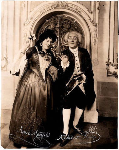 Reiss, Albert - Mattfeld, Marie - Double Signed Photo Der Rosenkavalier Premiere 1913 - TaminoAutographs.com