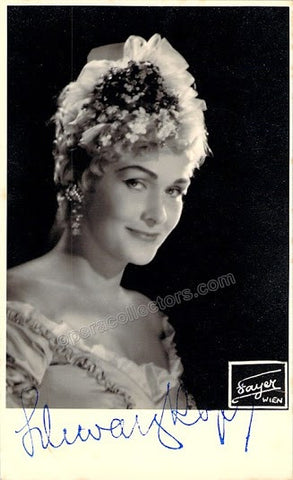 Schwarzkopf, Elisabeth - Signed Photo in Der Rosenkavalier - TaminoAutographs.com