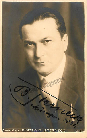 STERNECK, Berthold - Tamino Autographs  - 1