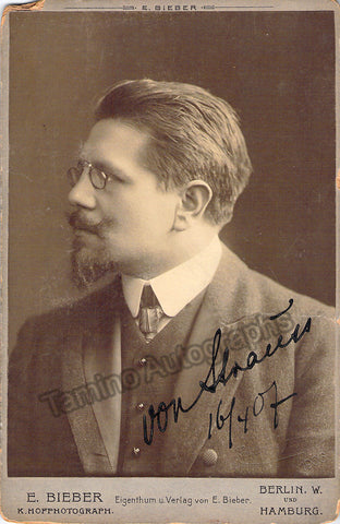 Strauss, Edmund - Signed Cabinet Photo 1907 - Tamino Autographs  - 1