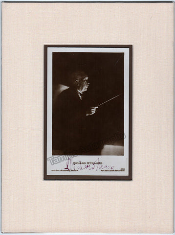 Strauss, Richard - Signed Photo Conducting - TaminoAutographs.com