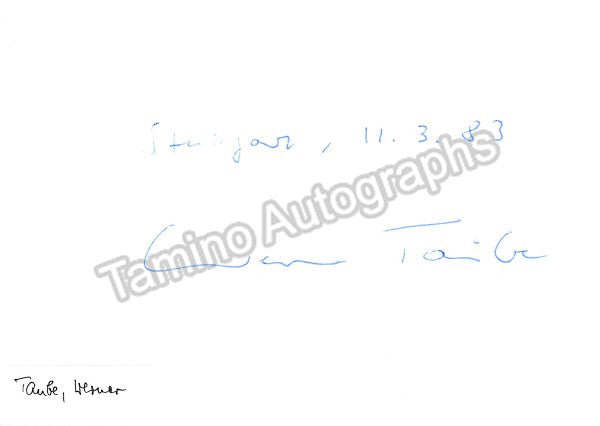 Taube, Werner - Signed Photo - Tamino Autographs  - 2