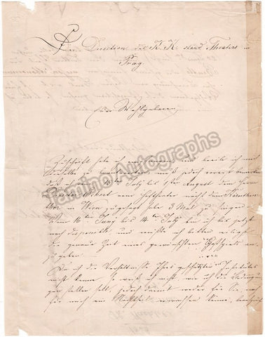Wachtel, Theodor - Autograph Letter Signed 1858
