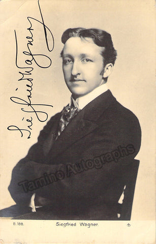 Wagner, Siegfried - Signed Photo Postcard - TaminoAutographs.com