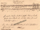 Willmers, Rudolf - Autograph Letter Signed + Music Quote 1838
