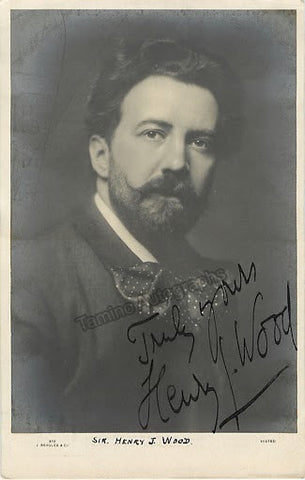 Wood, Henry - Signed photo postcard