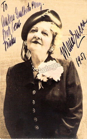 Zucca, Mana - Signed Photo Postcard 1951 - TaminoAutographs.com