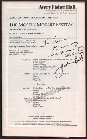 Bell, Joshua - Signed Program 1987