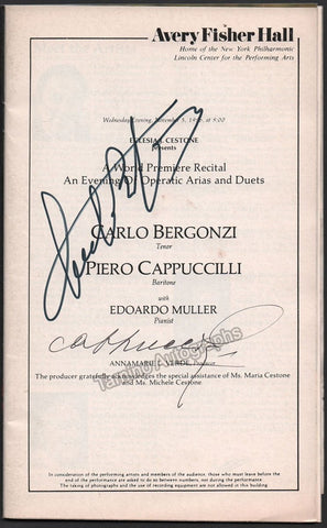 Bergonzi, Carlo - Cappuccilli, Piero - Signed Program 1986
