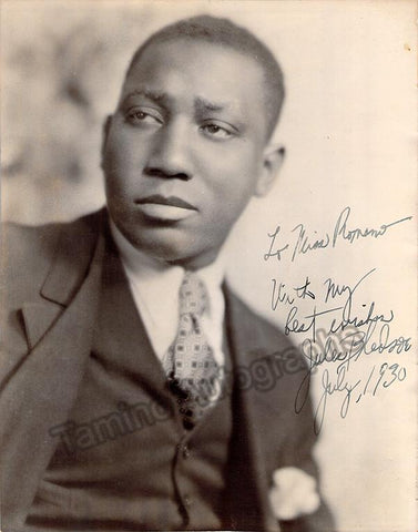 Bledsoe, Jules - Signed Photo 1930