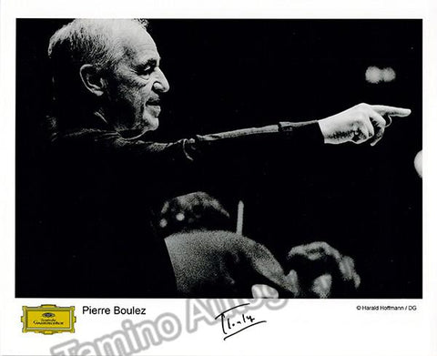 Boulez, Pierre - Signed promo photo