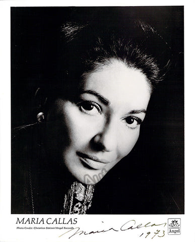 Callas, Maria - Signed Photo 1973
