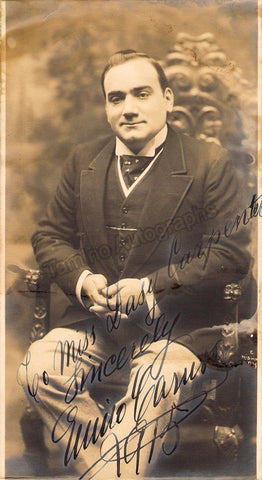 Caruso, Enrico - Large Signed Photo