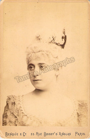 Heilbron, Marie - Cabinet Photo as Manon - World Premiere 1884 - Tamino Autographs  - 1