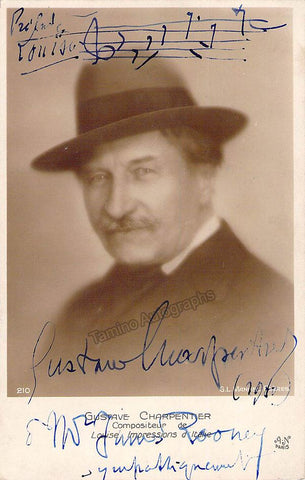 Charpentier, Gustave - Signed Photo Postcard