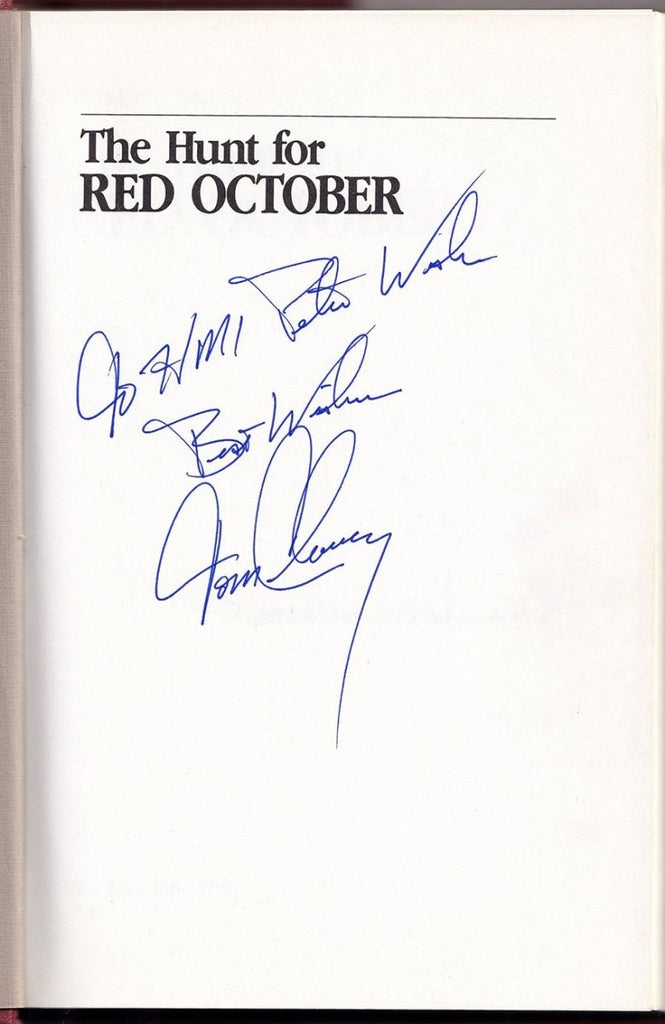 "Clancy, Tom - Signed Book ""The Hunt for the Red October"""