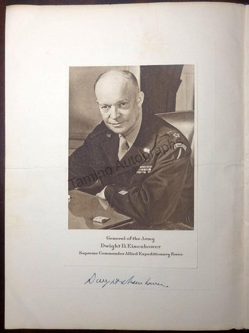 Eisenhower, Dwight - Signed Program for a Dinner in his Honor 1945
