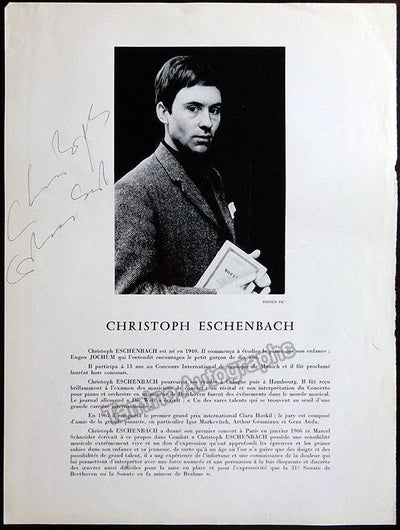 Eschenbach, Christoph - Signed Page