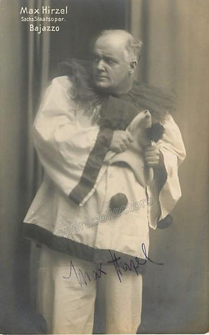 Hirzel, Max - Signed Photo as Canio in Pagliacci