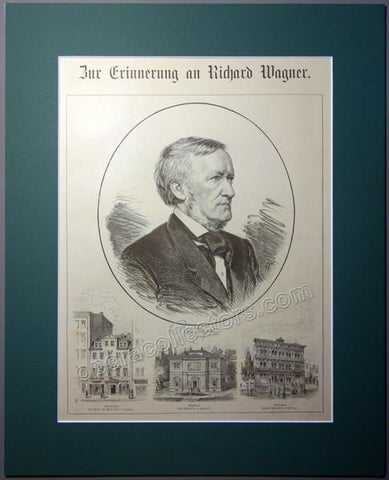 In Commemoration of Richard Wagner - Vintage Print Bayreuth Premiere, 1883