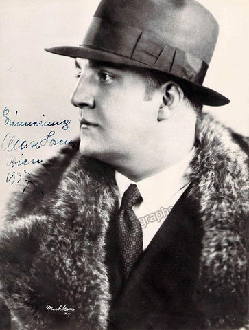 Lorenz, Max - Signed Photograph 1937