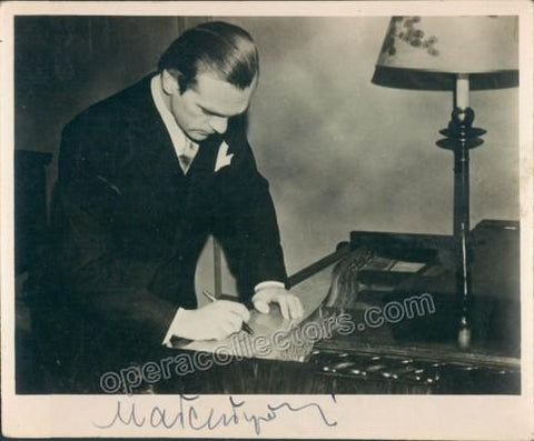 Malcuzynski, Witold - Signed photo