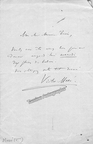 Masse, Victor - Autograph Note Signed