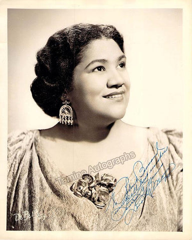 Maynor, Dorothy - Signed Photograph