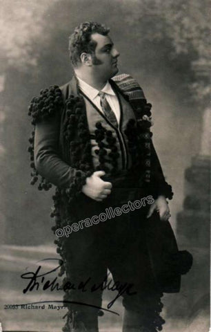 Mayr, Richard - Signed photo postcard in Carmen