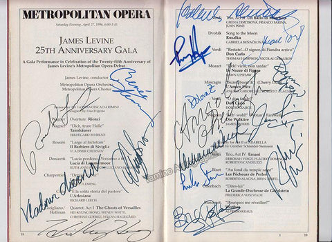Metropolitan Opera - Signed Program Gala 25th Anniversary 1996
