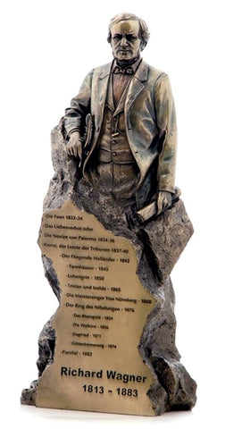 Wagner, Richard - Electro-Plated Bronze Statue - TaminoAutographs.com