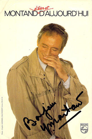 Montand, Yves - Signed Promo Photo