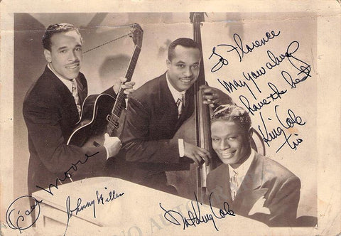 Nat King Cole Trio - Photograph Signed by All