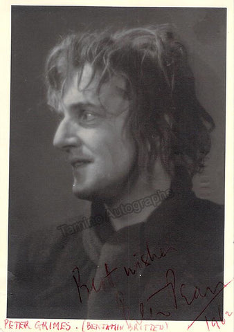 Pears, Peter - Signed Photo as Peter Grimes!