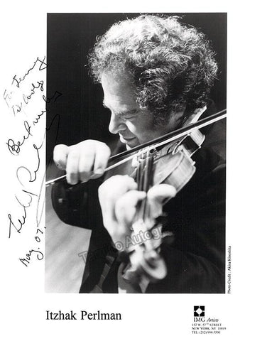 Perlman, Itzhak - Signed Photo 2007