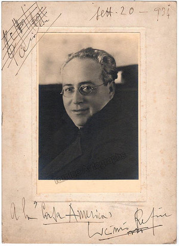 Refice, Licinio - Large Signed Photo with Music Quote 1934