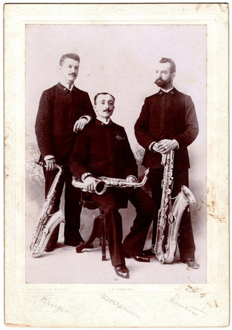 Saxophone Trio of the Sousa Concert Band - Photo Signed by all 3
