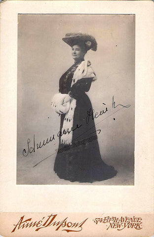 Schumann-Heink, Ernestine - Signed Cabinet Photo