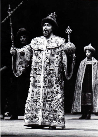 Burchuladze, Paata -  Signed Photo as Boris in Boris Godunov