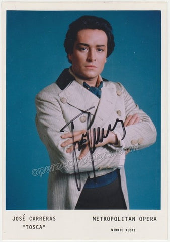 Carreras, Jose - Signed Photo in Tosca - TaminoAutographs.com