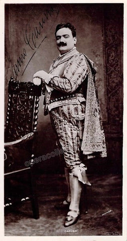 Caruso, Enrico - Signed Photo in Rigoletto, his Met Opera Debut Role - TaminoAutographs.com