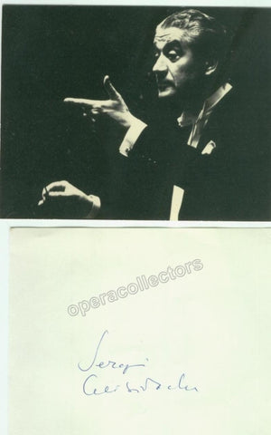 Celibidache, Sergiu - Signature on Album Leaflet and Photograph - TaminoAutographs.com