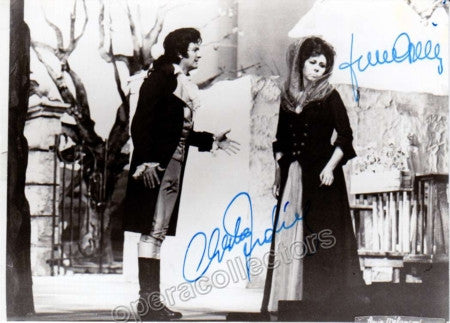 Corelli, Franco and Ludwig, Christa - Signed Photo in Werther - Tamino Autographs