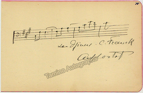 Cortot, Alfred - Autograph Music Quote Signed - TaminoAutographs.com
