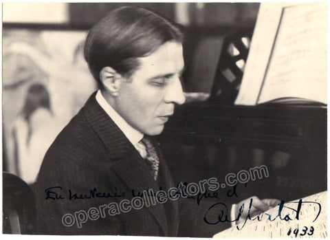 Cortot, Alfred - Signed photo - TaminoAutographs.com
