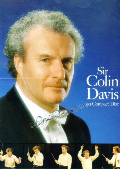 Davis, Colin - Signed Photo Poster