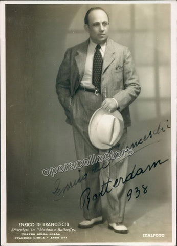 De Franceschi, Enrico - Signed photo in Madama Butterfly - TaminoAutographs.com
