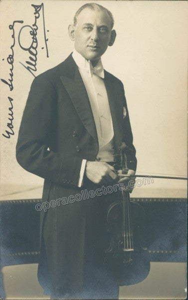De Groot, David - Signed photo with violin