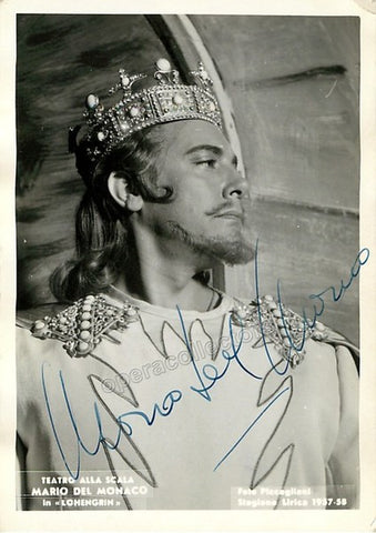 Del Monaco, Mario - Signed Photo as Lohengrin - TaminoAutographs.com