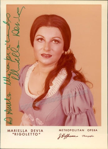 Devia, Mariella - Signed Photo in Rigoletto